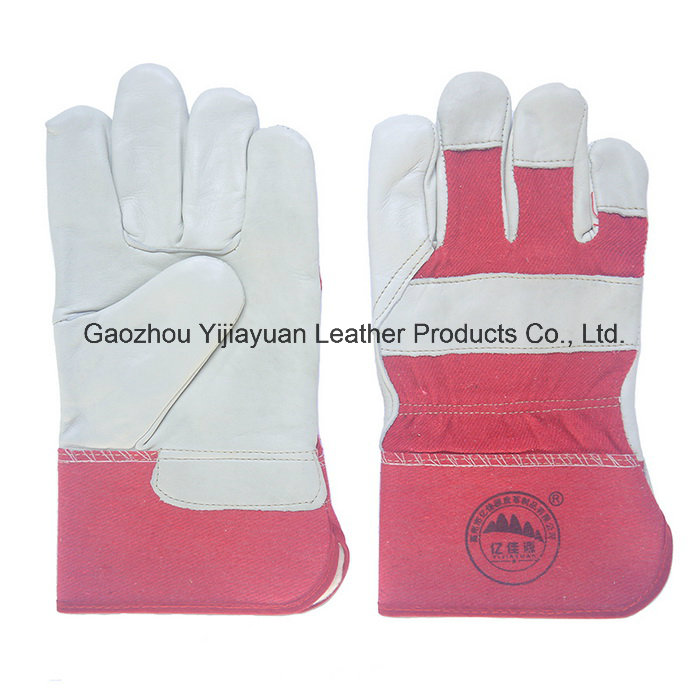 Leather Safety Winter Warmer Working Gloves for Workers