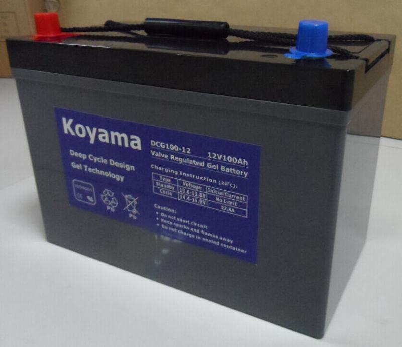 12V 100ah Deep Cycle Gel Battery for Recreational Vehicle