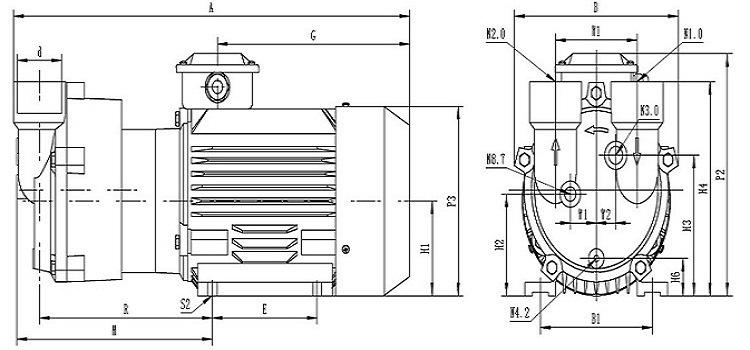 2BV2 070 Liquid/Water Ring Vacuum Pump for Pipe Extrusion Line