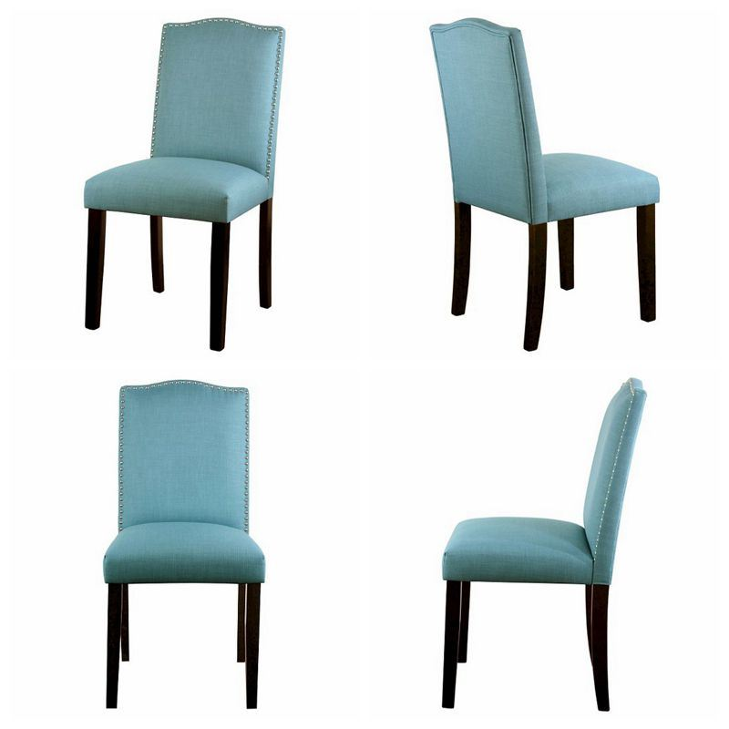 Simple Linen Fabric Restaurant Chair Dining Chairs with Nail Head (HD186)