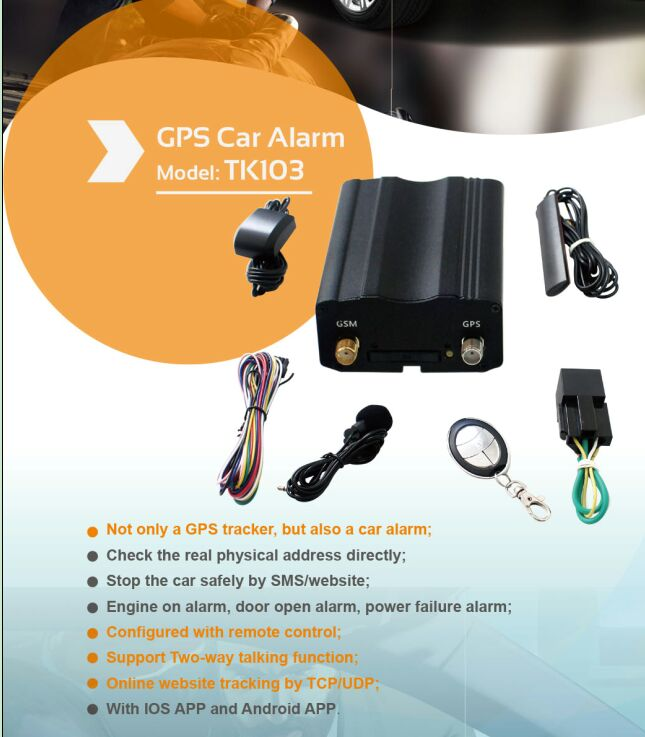 Best GPS Car Tracker with Ios and Android Apps (TK103-KW)