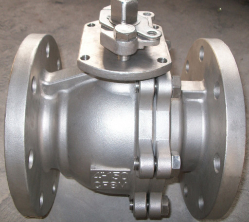 2 PC Ball Valve with Flanged Stainless Steel