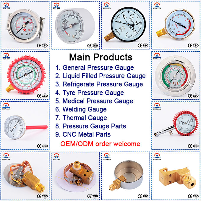 Widely Use Tyre Tire Calibrated Pressure Gauge with Low Price