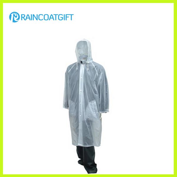 Fashion Design Transparent Unisex PVC Raincoat Rvc-019