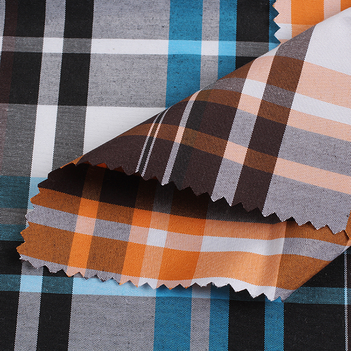 Poly Cotton Yarn Dyed Plaid Fabric