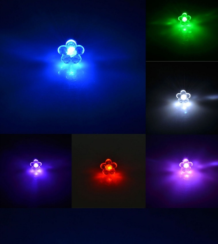 Fashion LED Light up Bright Luminous Crystal Stainless Steel Ear Stud Earring for Women Men Valentine's Gifts