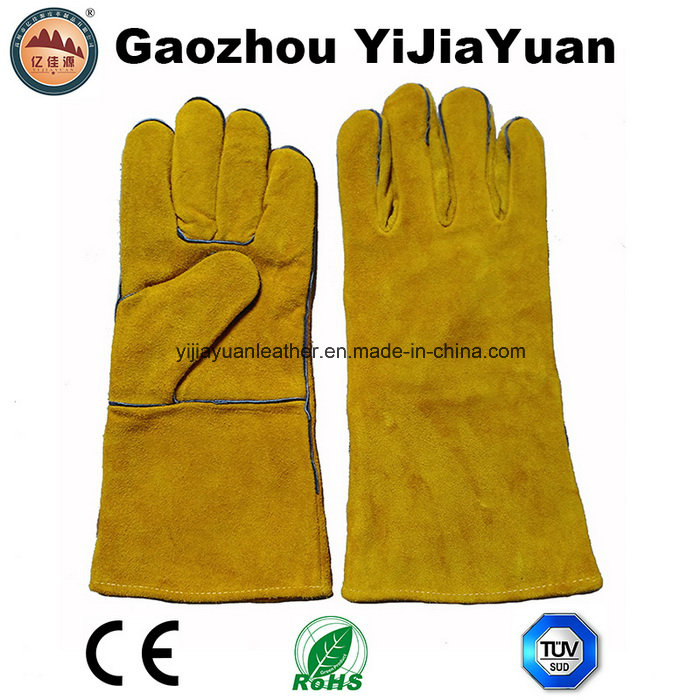 Kevlar Stiching Leather Welding Gloves