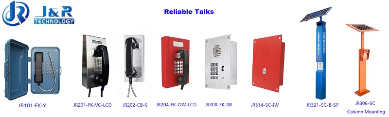 Rugged Tunnel Telephone, Weatherproof Phones for Industry, VoIP/SIP Phone