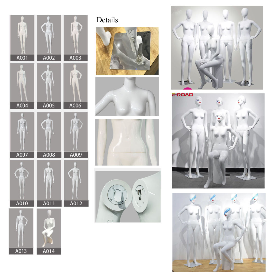 Wholesale Cheap Female Mannequin Full Body Plastic Women Mannequin for Shopping Mall