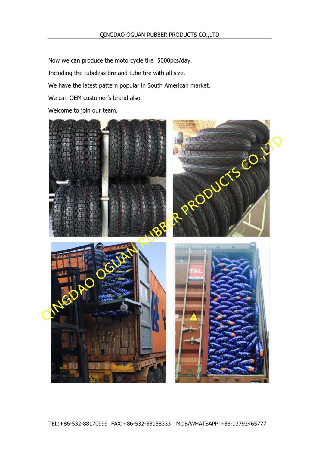 Qingdao Professional Factory Motorcycle Tyre Motorcycle Inner Tube
