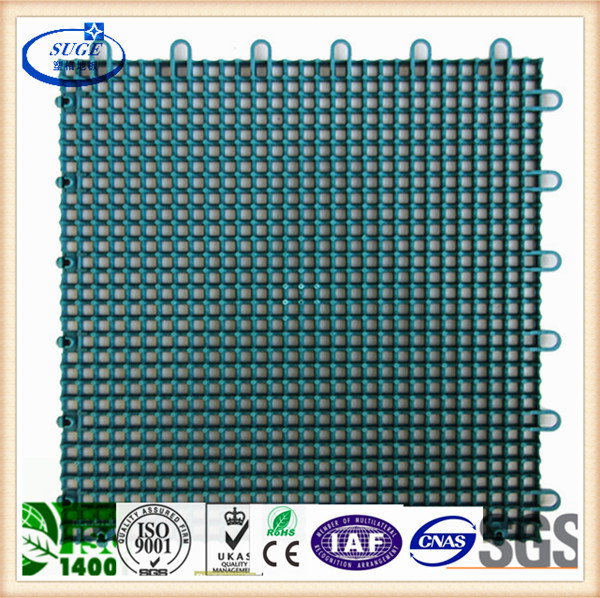 Outdoor Plastic Rubber Sports Flooring Tile