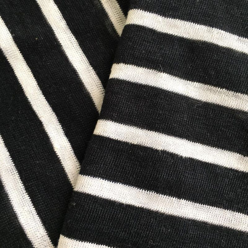 Linen Knitted Yarn Dyed Stripe (QF14-1546-SS)