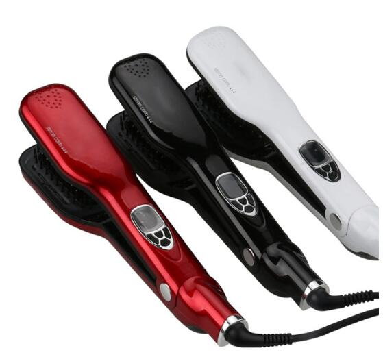 2016 Most Popular LCD Steam Hair Straightener Brush