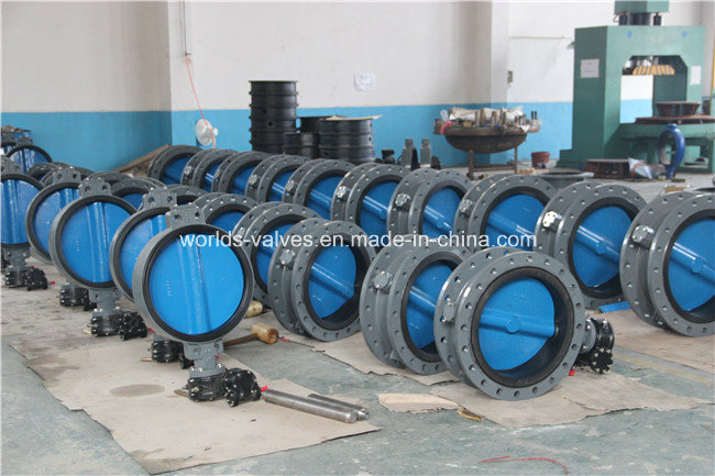Double Flange Butterfly Valve with Paining Disc