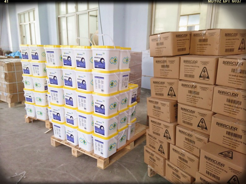 Cyanuric Acid Tablet for Water Treatment Chemical (Chlorine Stabilised) Stabilizer