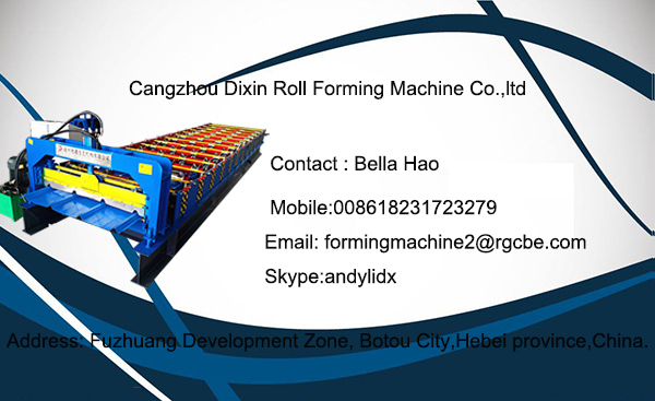 Dx 1100 Cold Bending Metal Sheet Roof Tile Forming Machine in China