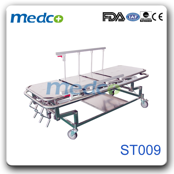 Medical Cart Stainless Steel Hospital Transfer Nursing Stretcher Trolley
