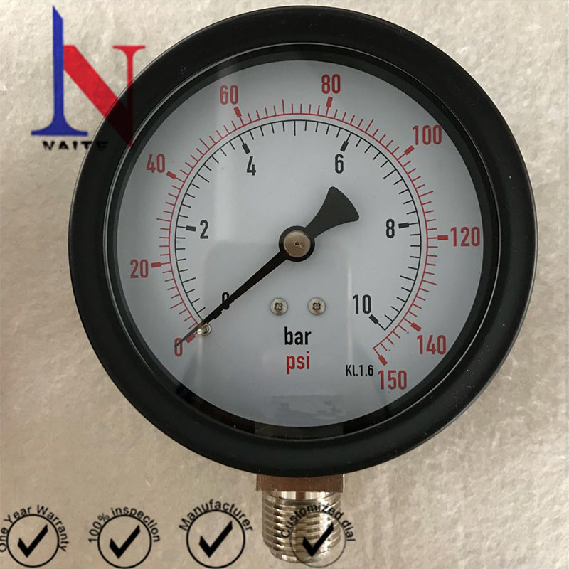 Class 1.6 Glycerin Filled Utility Pressure Gauge for Pump