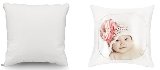 Sublimation Printable White Poly Soft Cushion Cover