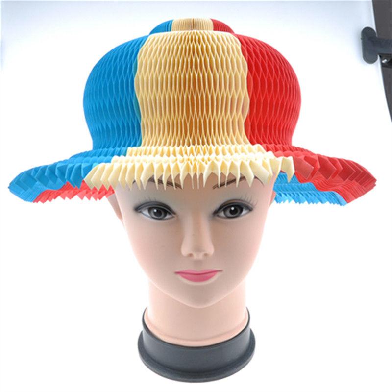 Summer Foldable Paper Hat Sunbonnet For Promotional Gift