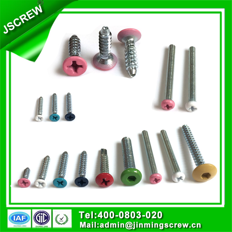 Color Painted Hex Wafer Head Self Drilling Screw