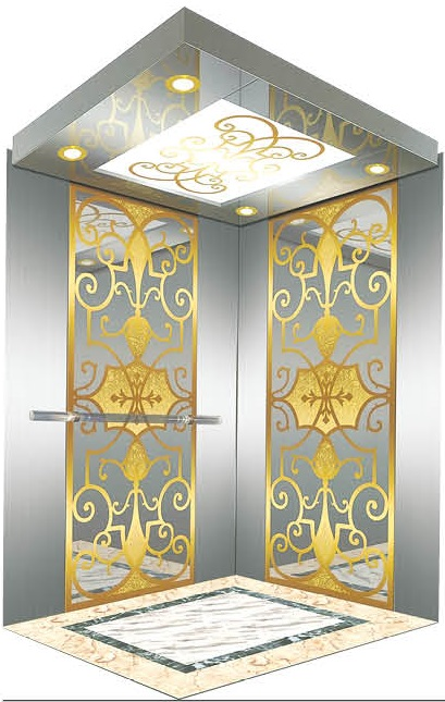 Passenger Elevator Lift Mirror Etched Mr & Mrl Aksen Ty-K240