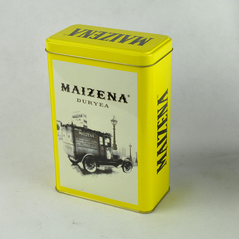 Custom Metal Tin Box for Tea with Rectangular Shape