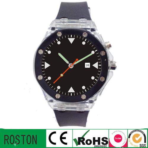 Customer Design Quartz Movement Flash Light Promotional Watch