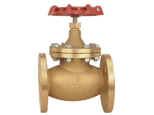 Lead Free Brass Globe Valve Flanged with Steel Handle