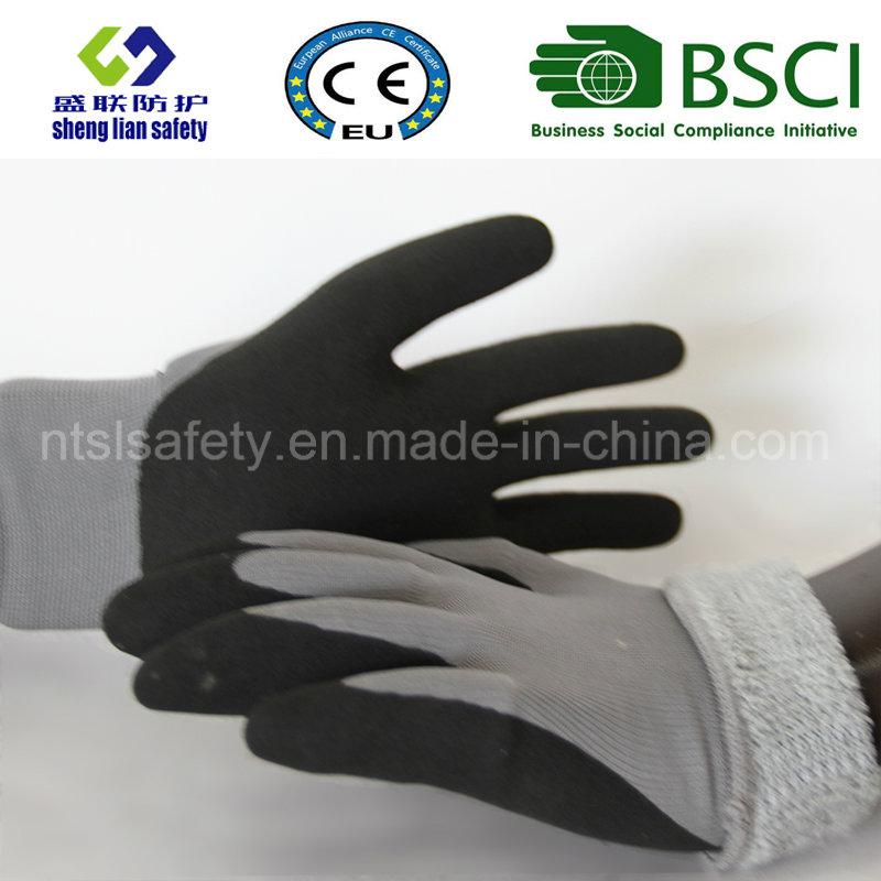 Nitrile Coating, Sandy Finish Safety Work Gloves (SL-NS116)