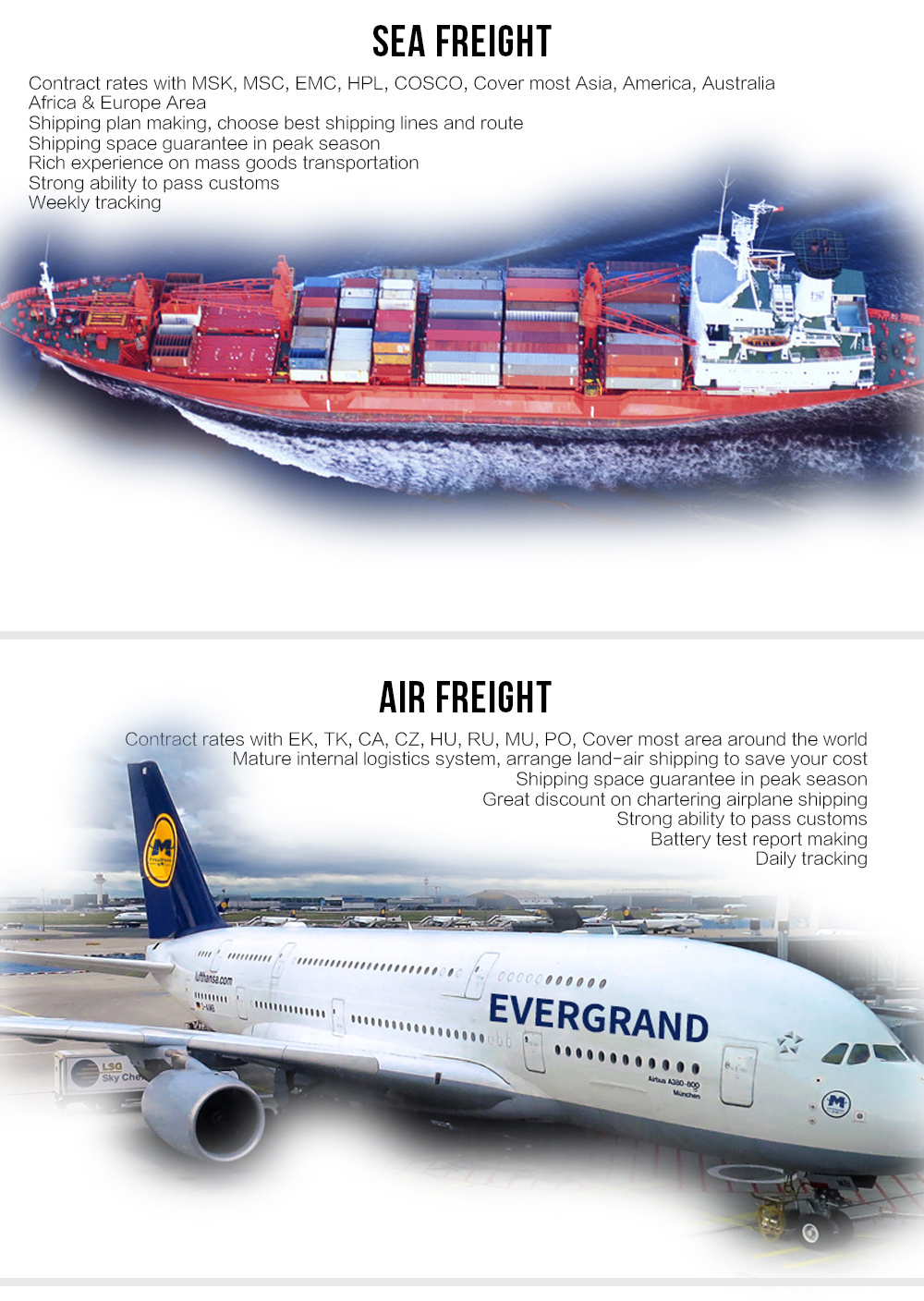 Global Air Shipping From Malaysia to World