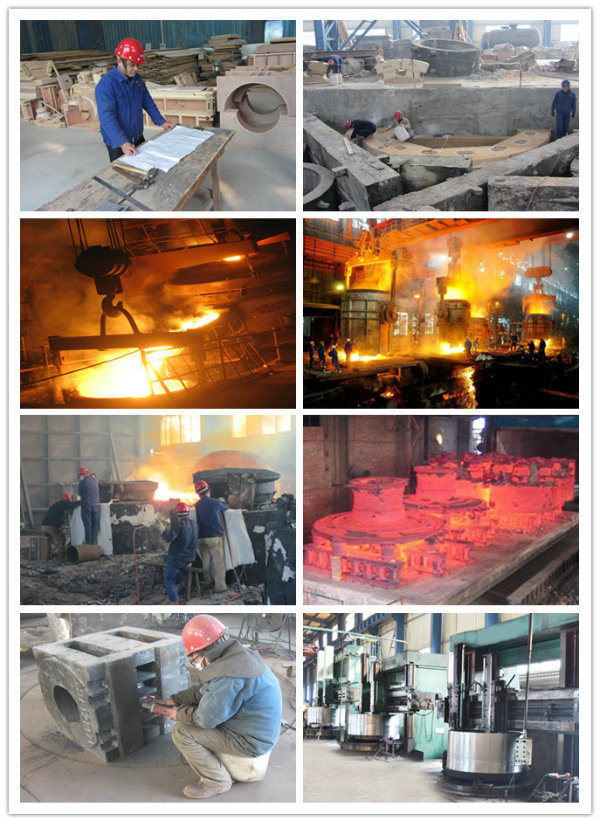 Large Steel Casted Gear Wheel by Sand Casting