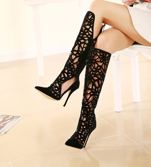 New Black Sexy Hallow out High Heel Shoes (HC 033)