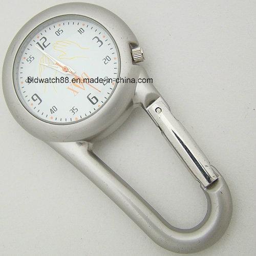 Metallic Carabiner Clip on Watch