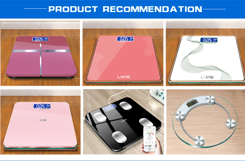 180kg Smooth Square Body Weighting Bathroom Scale