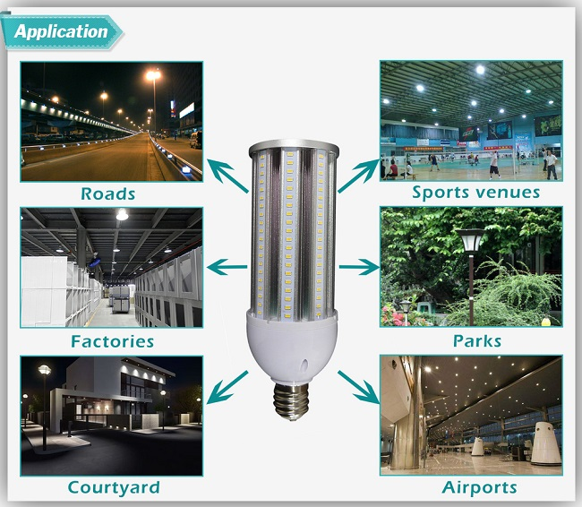 Water-Proof IP64 12W/16W/20W/24W LED Corn Light for Road Lighting