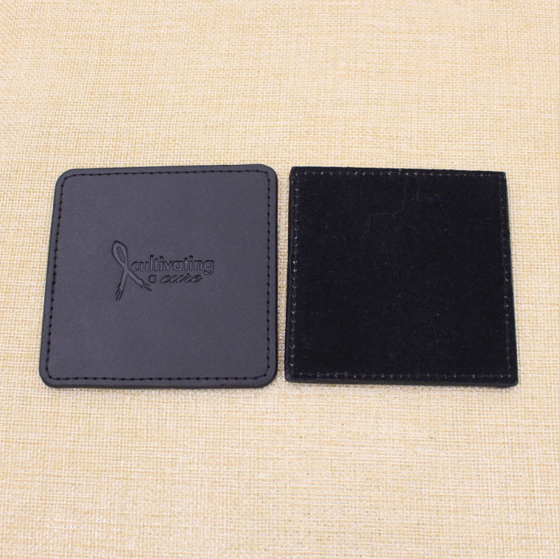 Custom Place Mat Leather Coaster with Brand Logo