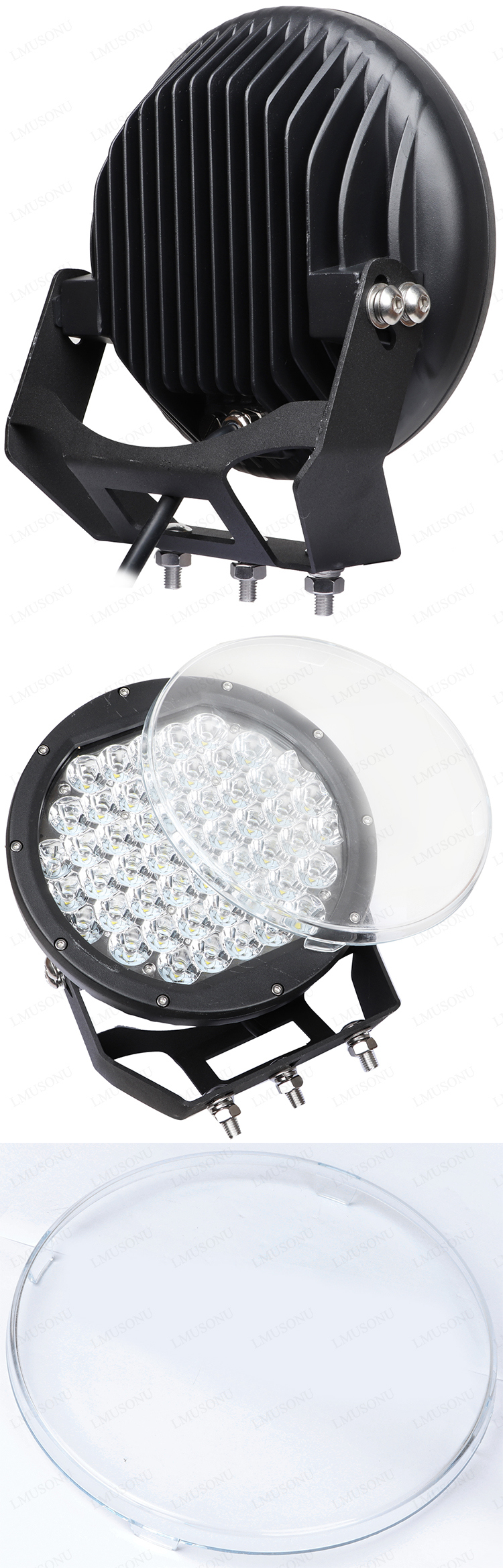 10.0 Inch 255W 4X4 Offroad Car Auxiliary LED Work Driving Light Spot Flood Beam