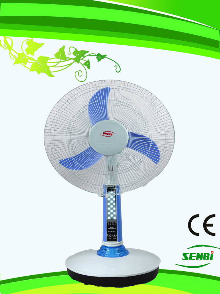 16 Inches AC110V Rechargeable Fan Solar Table Fan (FT-40DC-H3)