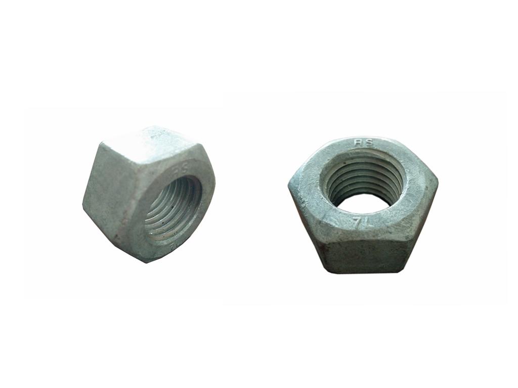Heavy Hexagonal Head High Strength Nuts ASTM A194 7L Hot DIP Galvanized