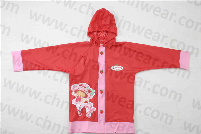 Children Colorful PVC Rain Jacket
