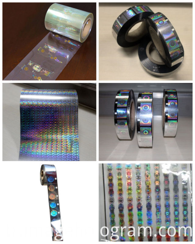 Silver Security Roll Holographic Hot Foil Stamping