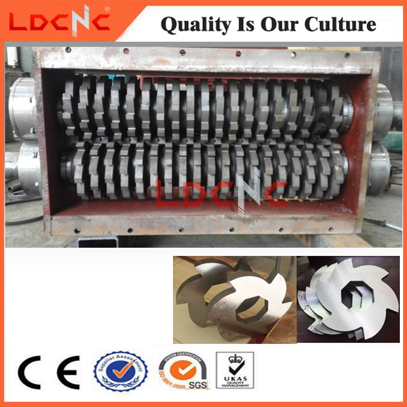 Waste Used Car Rubber Tyre Shredder Cutting Machine for Sale