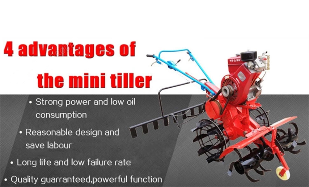 Small Family Used Tiller with Diesel/Gasoline Engine to Tillage Hilly/Dryland/Mountain/Garden/Water Field