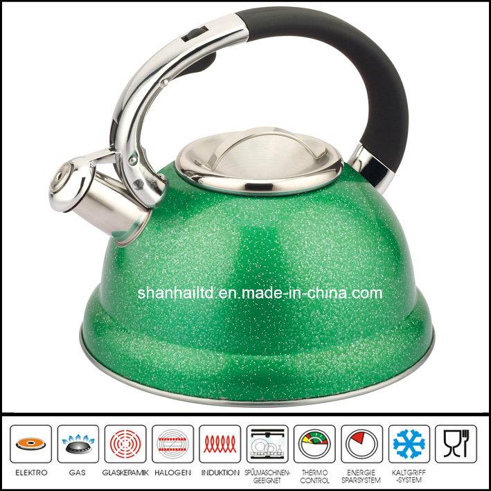 Whistle Kettle Pot Tea Kettle 3L Color Stainless Steel Tea Set Kitchenware Cookware