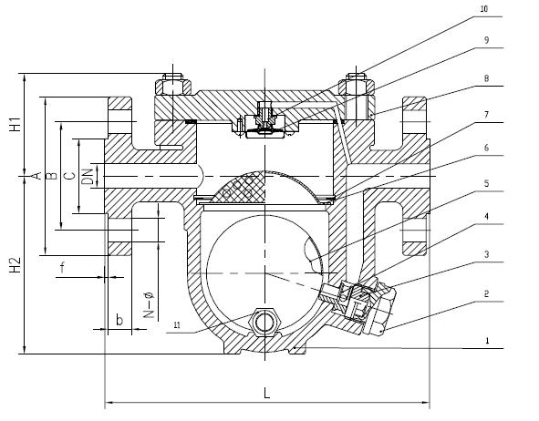 Flanged Free Ball Float Steam Trap (CS41H)