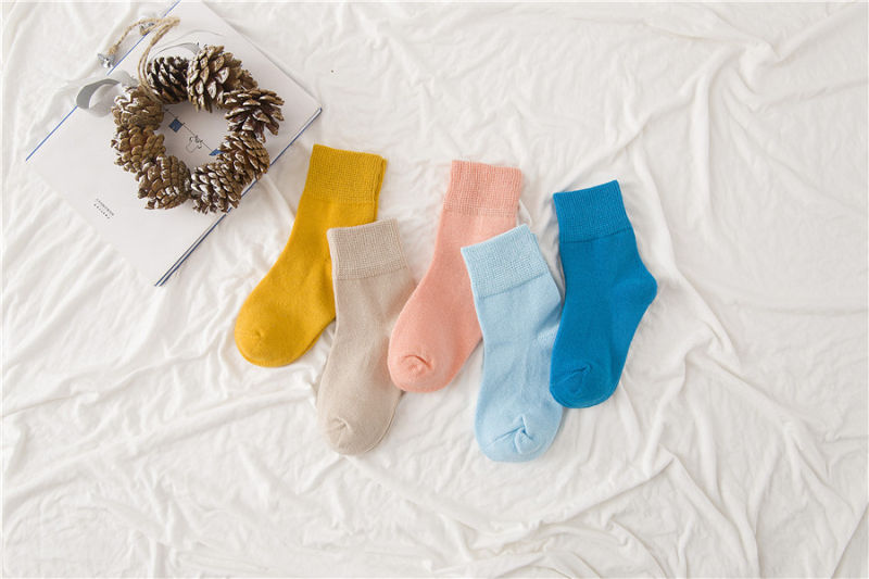 Candy Color Little Girl Cotton Socks Bright Colors Good Quality