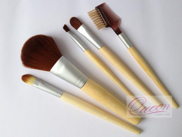 Bamboo 5PCS Cosmetic Makeup Brush Set
