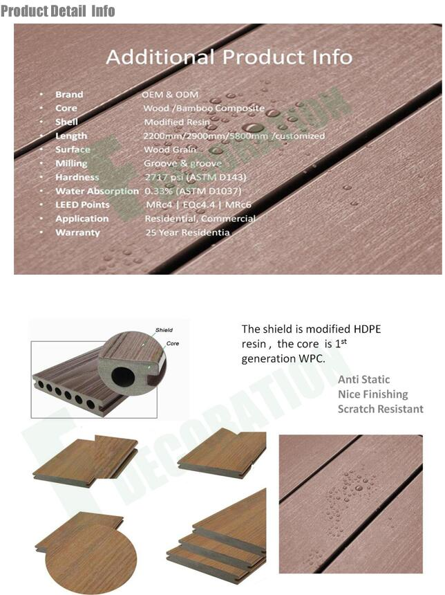 Competitive Price Waterproof Wood Plastic Composite WPC Outdoor Decking