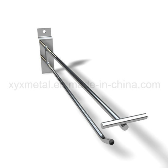 Commercial Equipment Double Metal Wire Hanger Shop Fitting with Price Tag
